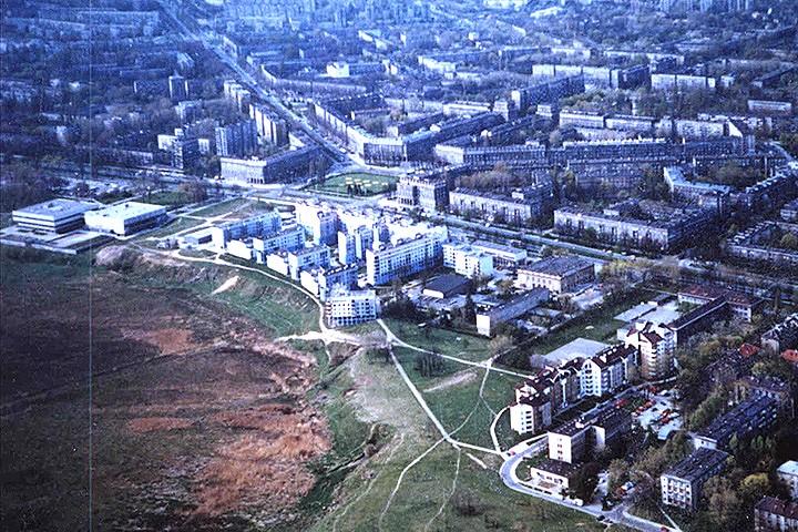 Panorama nowej huty z lotu ptaka foto a gryczyński
